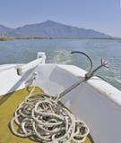 Turkse vissersboot stock foto