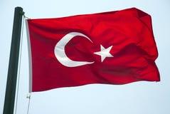 Turkse vlag Royalty-vrije Stock Foto's