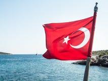 Turkse vlag Stock Afbeelding