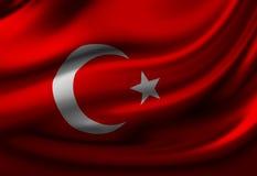 Turkse vlag stock illustratie