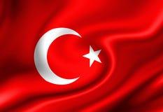 Turkse vlag Stock Foto