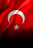Turkse vlag royalty-vrije illustratie