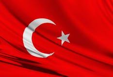 Turkse vlag Stock Afbeeldingen