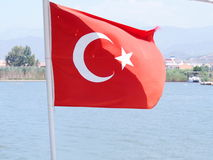 Turkse vlag royalty-vrije stock afbeeldingen