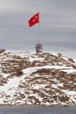 Turkse vlag bij Eiland Akdamar Royalty-vrije Stock Afbeelding