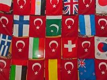 Turkse vlaggen Stock Foto's