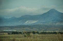 Turkse vlaggen royalty-vrije stock foto