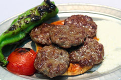 Turkse vleesballetjes Stock Fotografie