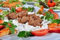 Turkse vleesballetjes Royalty-vrije Stock Foto's