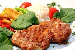 Turkse vleesballetjes met rijst Royalty-vrije Stock Foto's