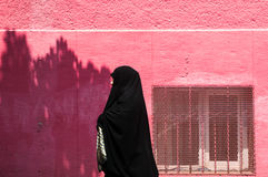 Turkse vrouw in traditionele Islamitische kleding Stock Foto