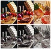 Turkse Wurst en Salami Stock Afbeelding