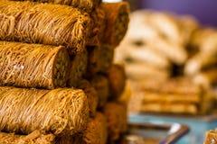 Turkse zoete baklava Stock Afbeeldingen
