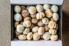 Turkse Zoete kurabiyesi van de gebakjesv.n. in doos stock fotografie