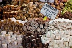 Turkse zoetheid. Istanboel, Turkije. stock fotografie