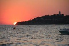 Turkse zonsondergang Stock Afbeeldingen