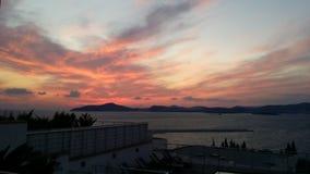 Turkse zonsondergang Stock Foto
