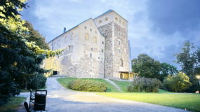 Turku Castel. In the early morning in September Royalty Free Stock Photos