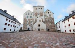 Turku castle. Old medieval castle of Turku, Finland Royalty Free Stock Photo
