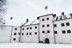 Turku castle bailey in winter day Stock Images