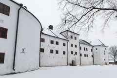 Turku castle bailey in winter Royalty Free Stock Image