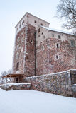 Turku Castle in cold winter season Royalty Free Stock Image