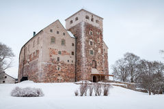 Turku Castle, Finland. Cold winter season Royalty Free Stock Images