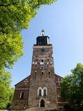 Turku Cathedral. In Finland on a summer day Royalty Free Stock Images