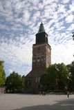 Turku Cathedral. Dedicated to the Virgin Mary and first Finland's bishop St. Henrik Stock Images
