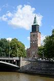 Turku Cathedral is the Mother Church of Evangelical Lutheran in Stock Photos