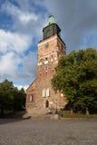 Turku domkyrka finland Arkivbild
