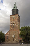 Turku, Finland. The old stone tower of Turku Cathedral, Finland stock images