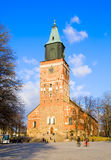 Turku finland Lutheran Cathedral Images libres de droits
