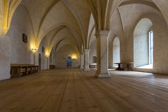Interiors and details of Turku Castle in Finland. royalty free stock images