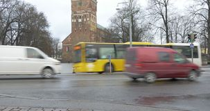Turku, Finland - stadsmening stock video
