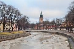 Turku im Winter Stockfotos