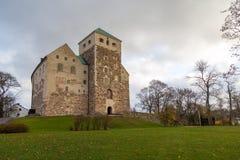 Turku kasztel Średniowieczny budynek w mieście Turku w Finlandia Zdjęcia Stock