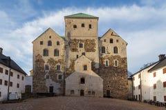 Turku kasztel Średniowieczny budynek w mieście Turku w Finlandia Obraz Stock