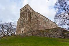 Turku kasztel Średniowieczny budynek w mieście Turku w Finlandia Fotografia Stock