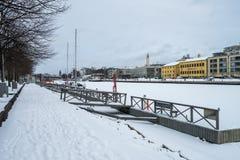 Turku miasto podczas zimy Zdjęcia Stock