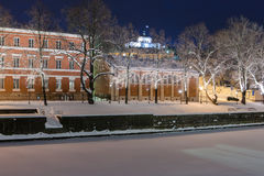 Turku by Night Royalty Free Stock Images
