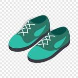 Turkusów buty z koronki isometric ikoną ilustracji