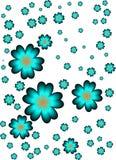 Turkusów kwiaty Fotografia Royalty Free