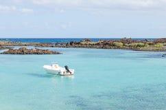 Turkus nawadnia Isla De Lobos zdjęcie royalty free