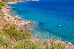 Turkus plaża Dalmatia obraz stock