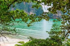 turkus woda w pięknej zatoce Andaman morze Zdjęcie Royalty Free