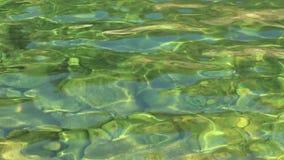 Turkus zieleni woda w ruchu, halna rzeka zbiory wideo