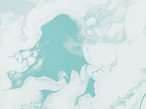 Turkusowa abstrakcjonistyczna ręka malujący tło Fotografia Royalty Free