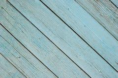 Turkusowa farba na drewnianych deskach Literowania t?o zdjęcia stock