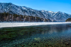 Turkusowa rzeka Obraz Royalty Free